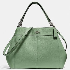 NEW COACH two way solid Leather satchel hobo bag